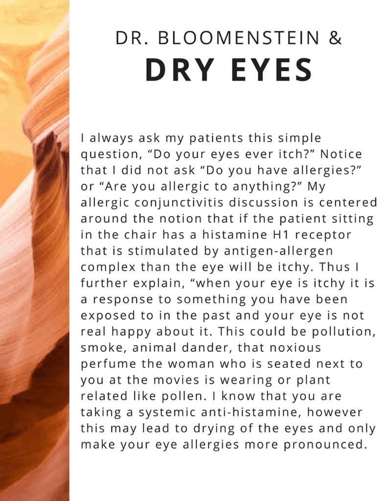 Dry eye syndrome newsletter page 1