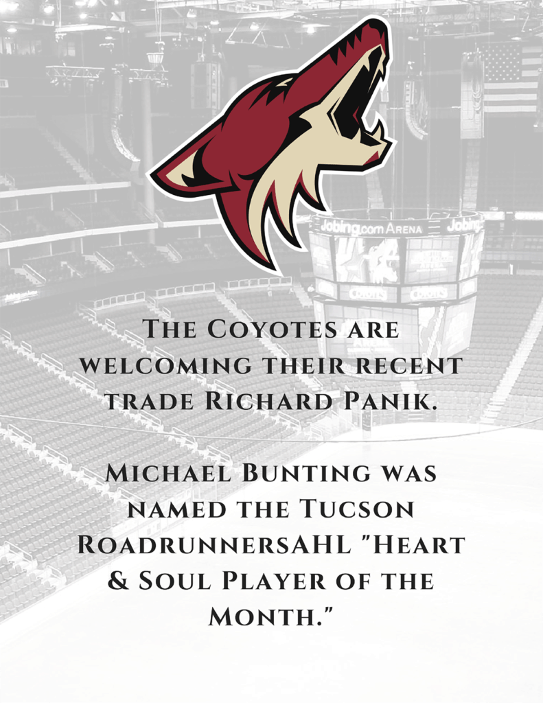 Coyotes team update